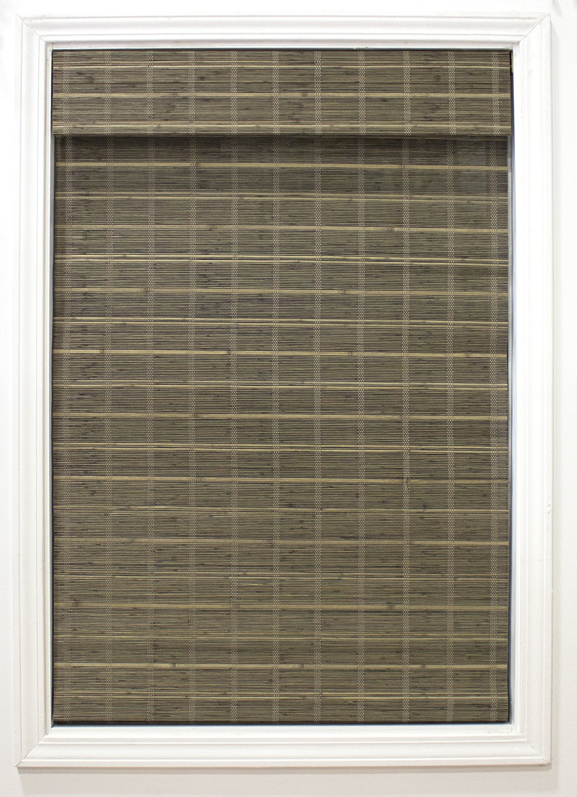 RADIANCE Cordless Bayshore Matchstick Bamboo Roman Shade-23 Blinds, 24'' W x 64'' L, Driftwood by RADIANCE