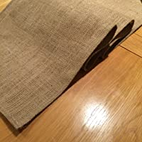 Rústico con camino de mesa de arpillera, 1,5m