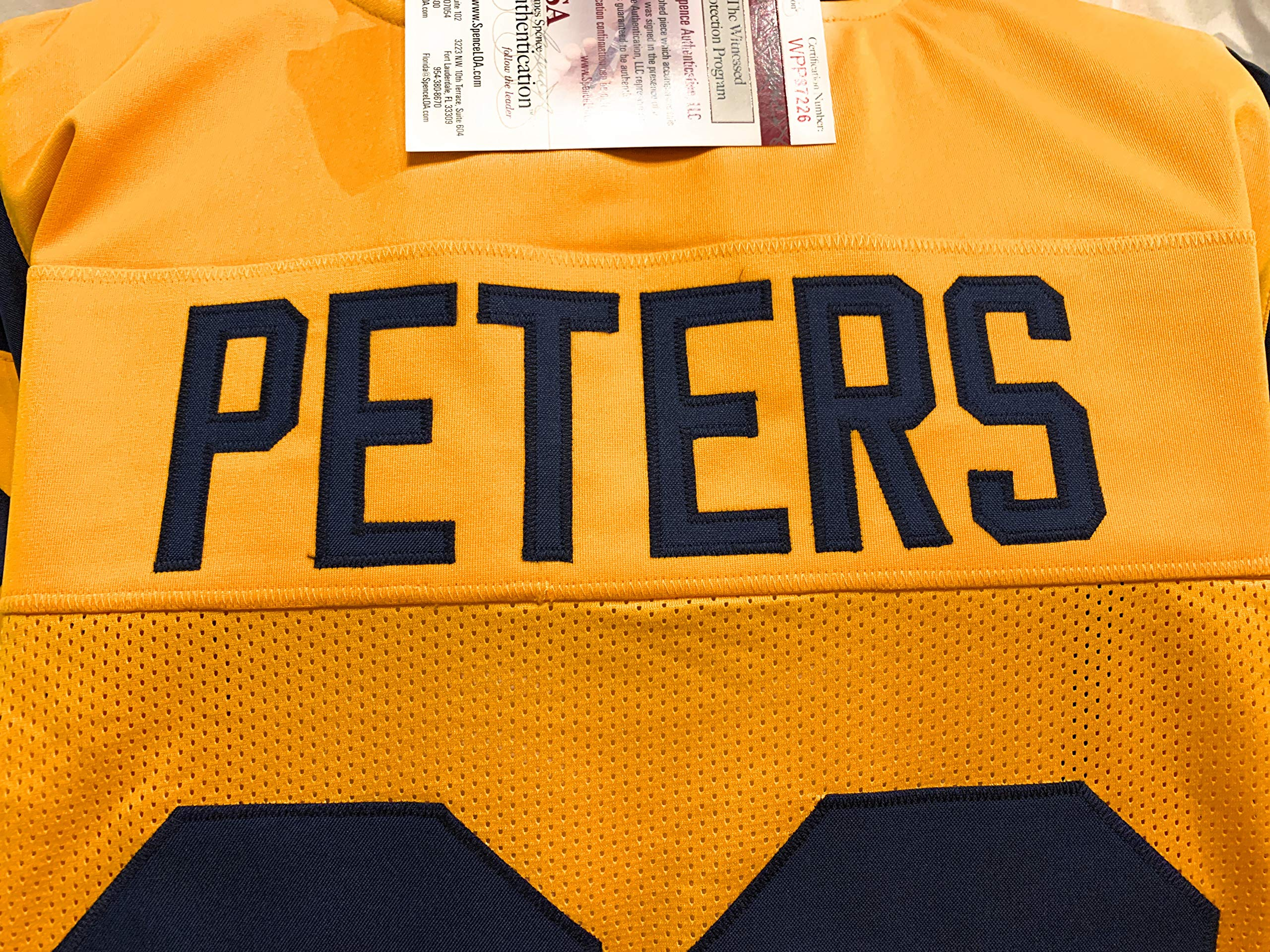 Marcus Peters Los Angeles Rams Signed Autograph Custom Yellow Jersey JSA Witnessed Certified