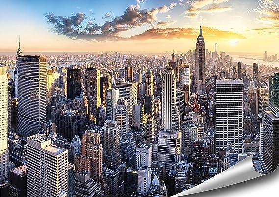 Artbay New York Poster Hd Xxl 118 8 X 84 Cm Manhattan Skyline New York Usa Premium Qualitat Amazon De Kuche Haushalt