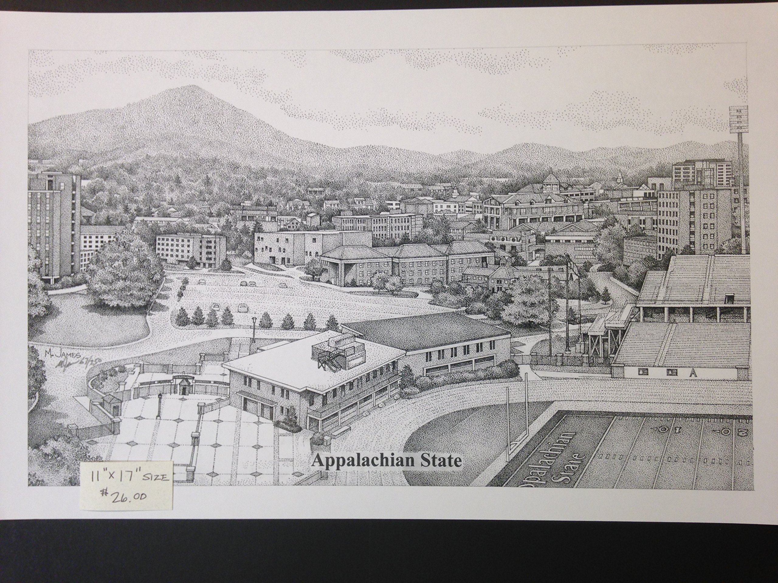 Appalachian State University 11x17 Panorama Print