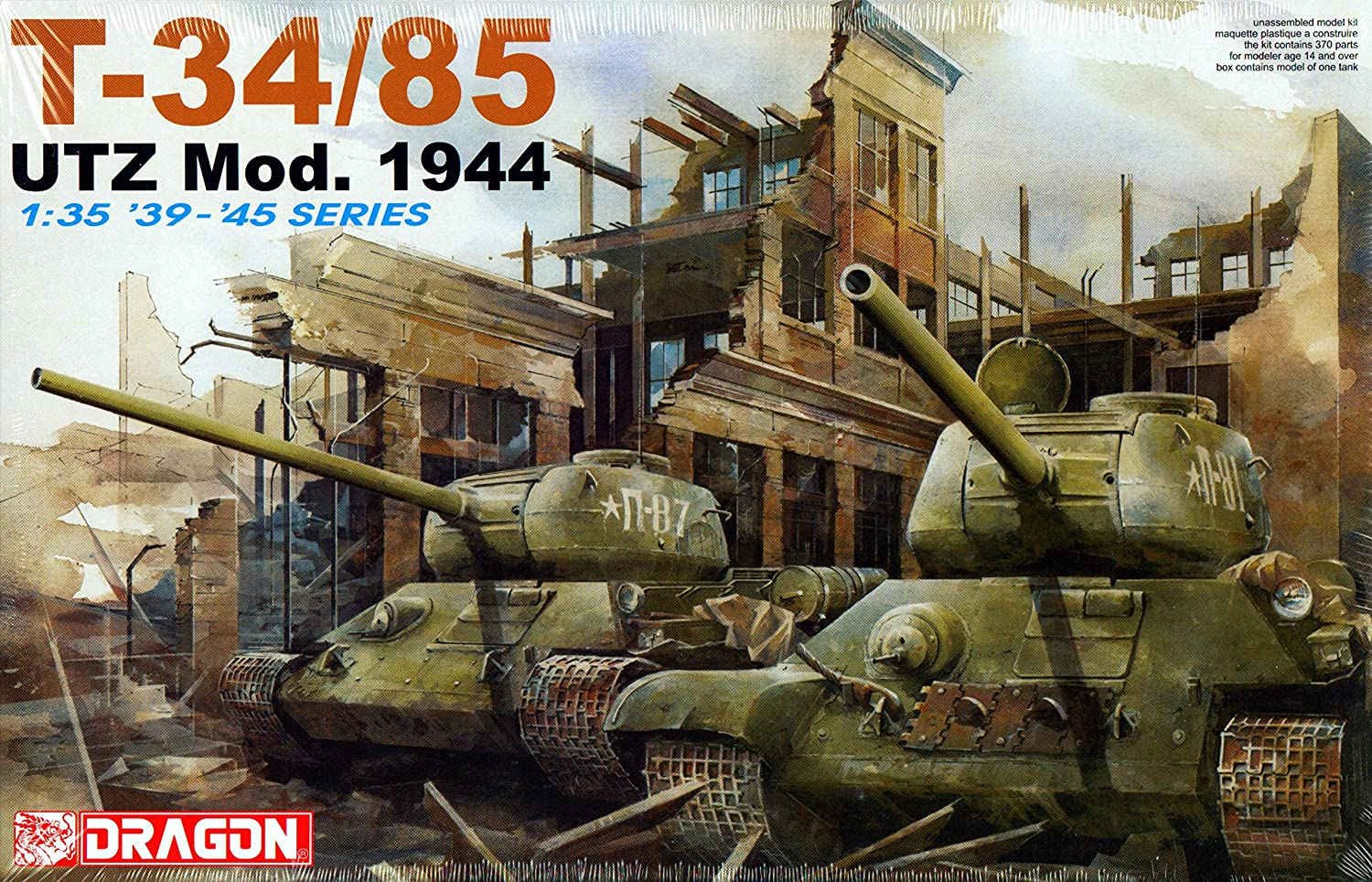 B0006O8RJQ Dragon T-34/85 Utz Mod. 1944 1:35 Scale Military Model Kit A1nDOycrUNL