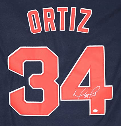 David Ortiz Boston Red Sox Signed Autographed Blue  34 Jersey PAAS ... 10c00304edf