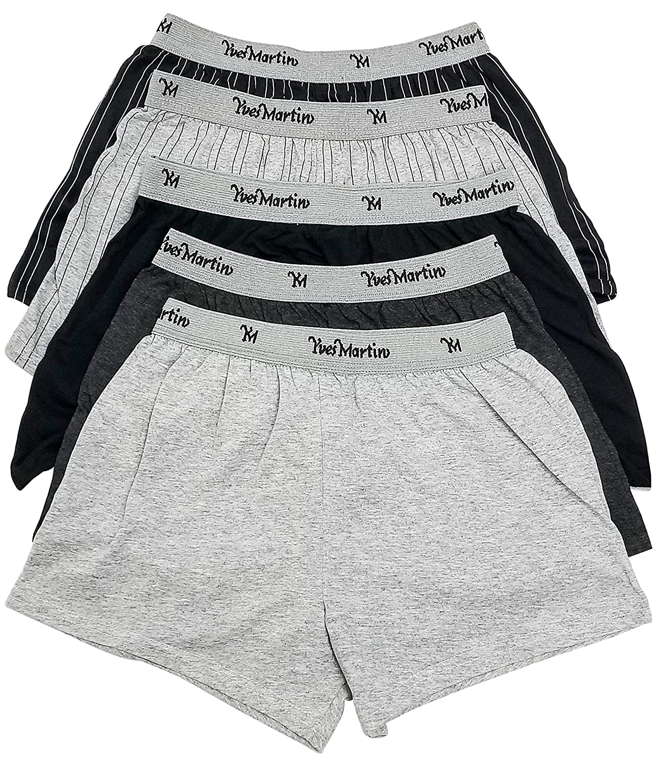 COLLECTION YVES MARTIN | Boys Boxers (Kids)- Jersey / 5 Pack (1234/5) Yves Martin Underwear Inc.