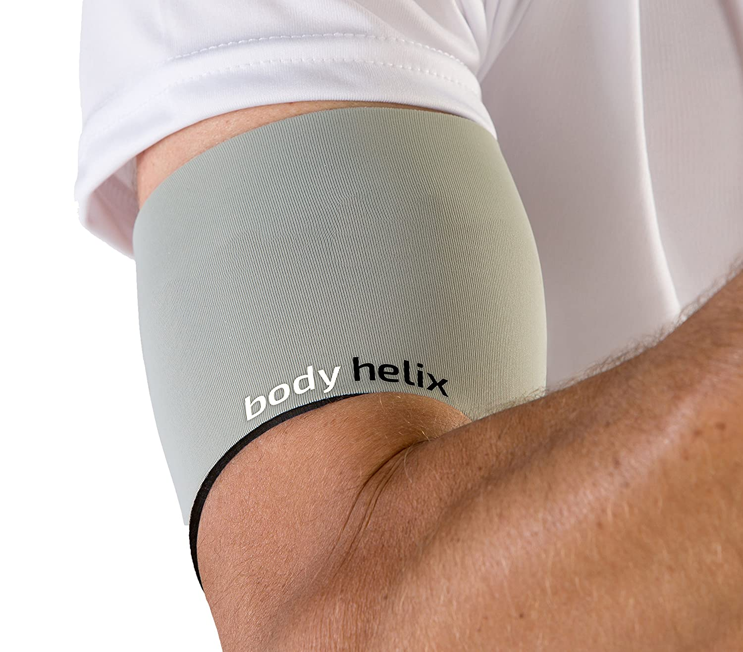 Silver XSmall  Bicep 7.5   8.5  Body Helix Arm Compression Sleeve Wrap; Pain Relief for Bicep and Tricep Muscle Strains