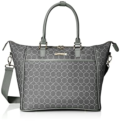 ninewest womenu0027s allea bag travel tote blacksilver one size - Travel Tote Bags