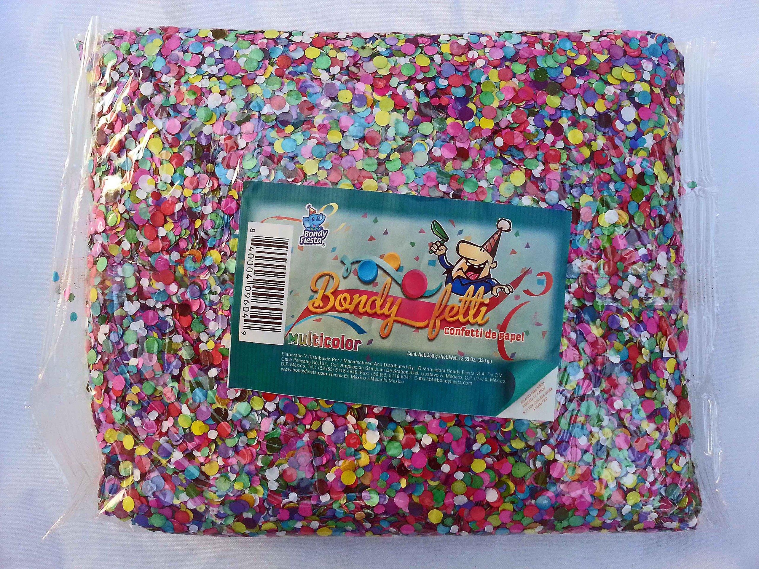 Confetti Multicolor Mexican Confetti 1bag of 12oz (350g) Model: