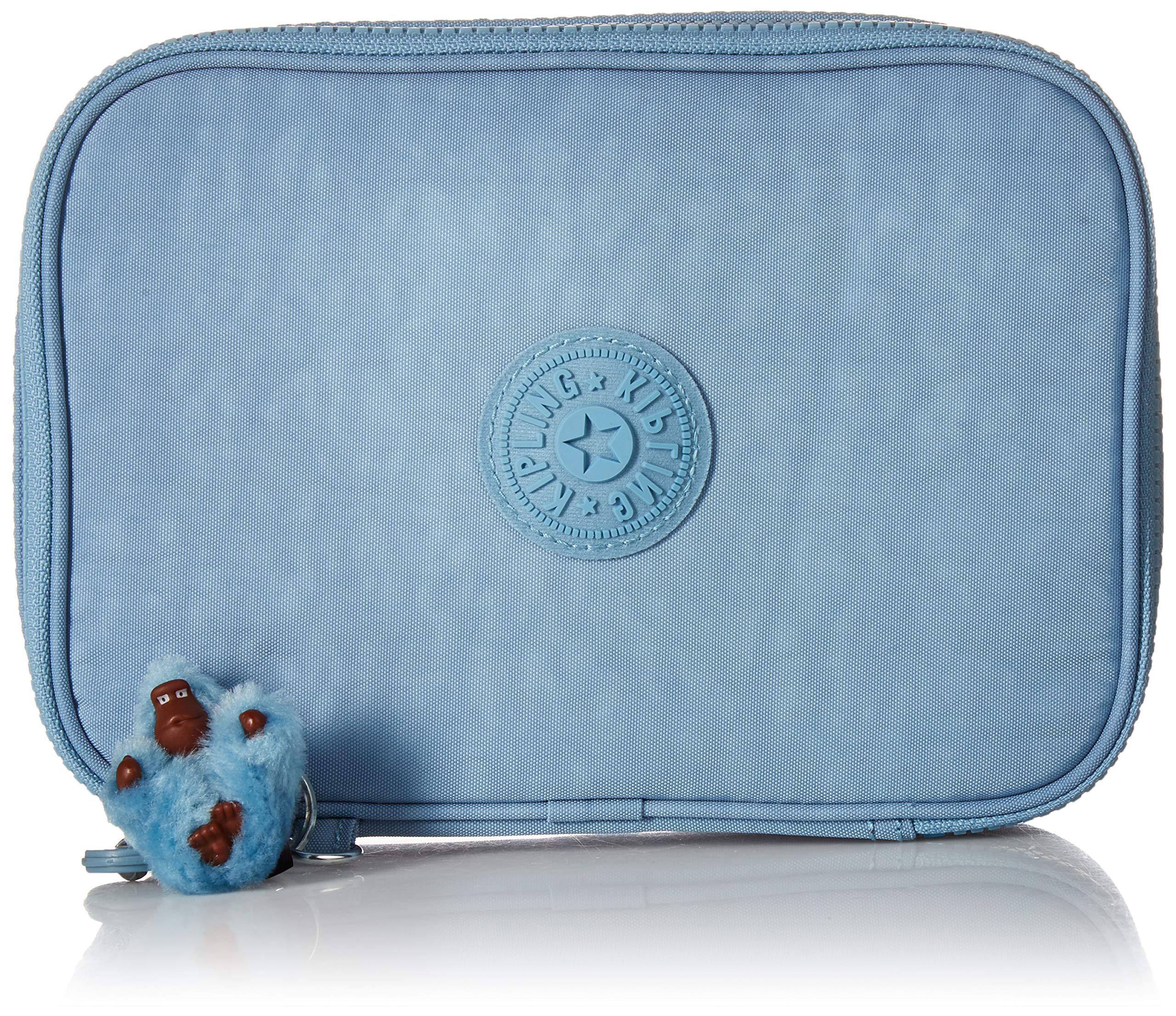 Kipling Women's 100 Pens Pencil Case, Essential Everyday Case, Zip Closure, blue beam tonal by Kipling