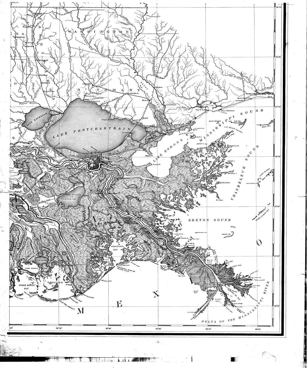 Amazon.com: Vintography 8 x 12 inch 1887 US Old Nautical map ...