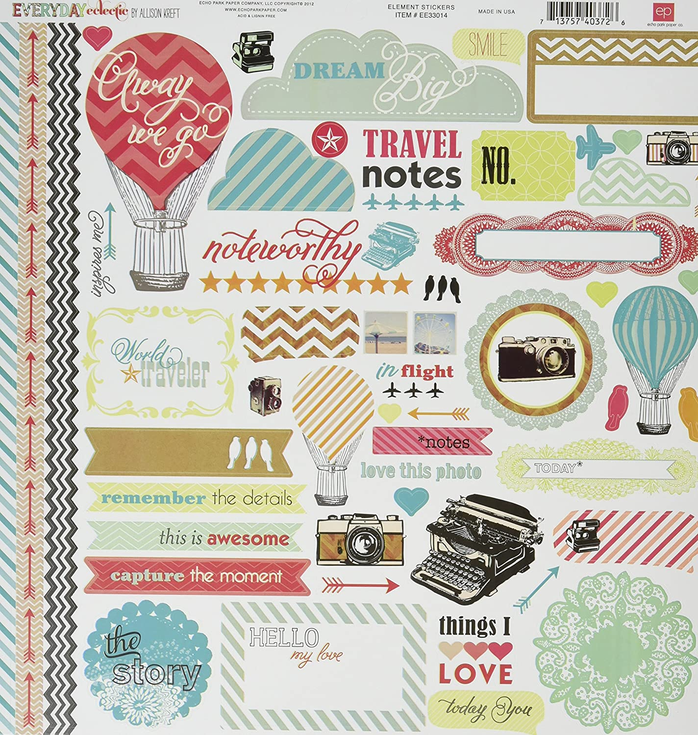 Echo Park Paper Everyday Eclectic Collection Scrapbooking Kit by Echo Park Paper B008CQ5F2C