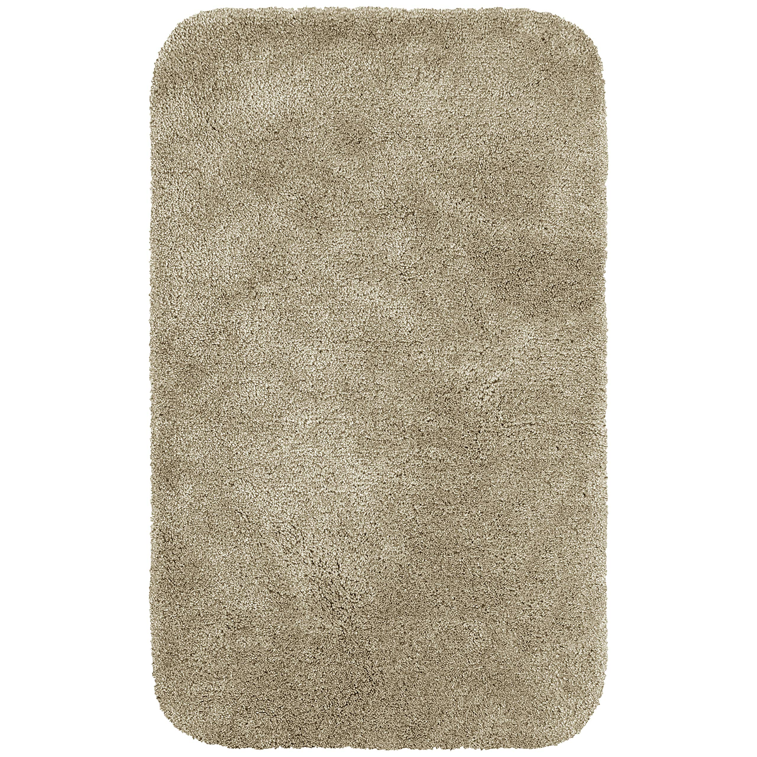 Maples Rugs Bathroom Rugs - Colorsoft 23.5'' x 39'' Non Slip Washable Bath Mat [Made in USA} Soft & Quick Dry for Vanity and Shower Clay Beige