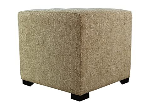 MJL Furniture Designs Upholstered Cubed Square Olivia Series Ottoman, 17 x 19 x 19 , Doe