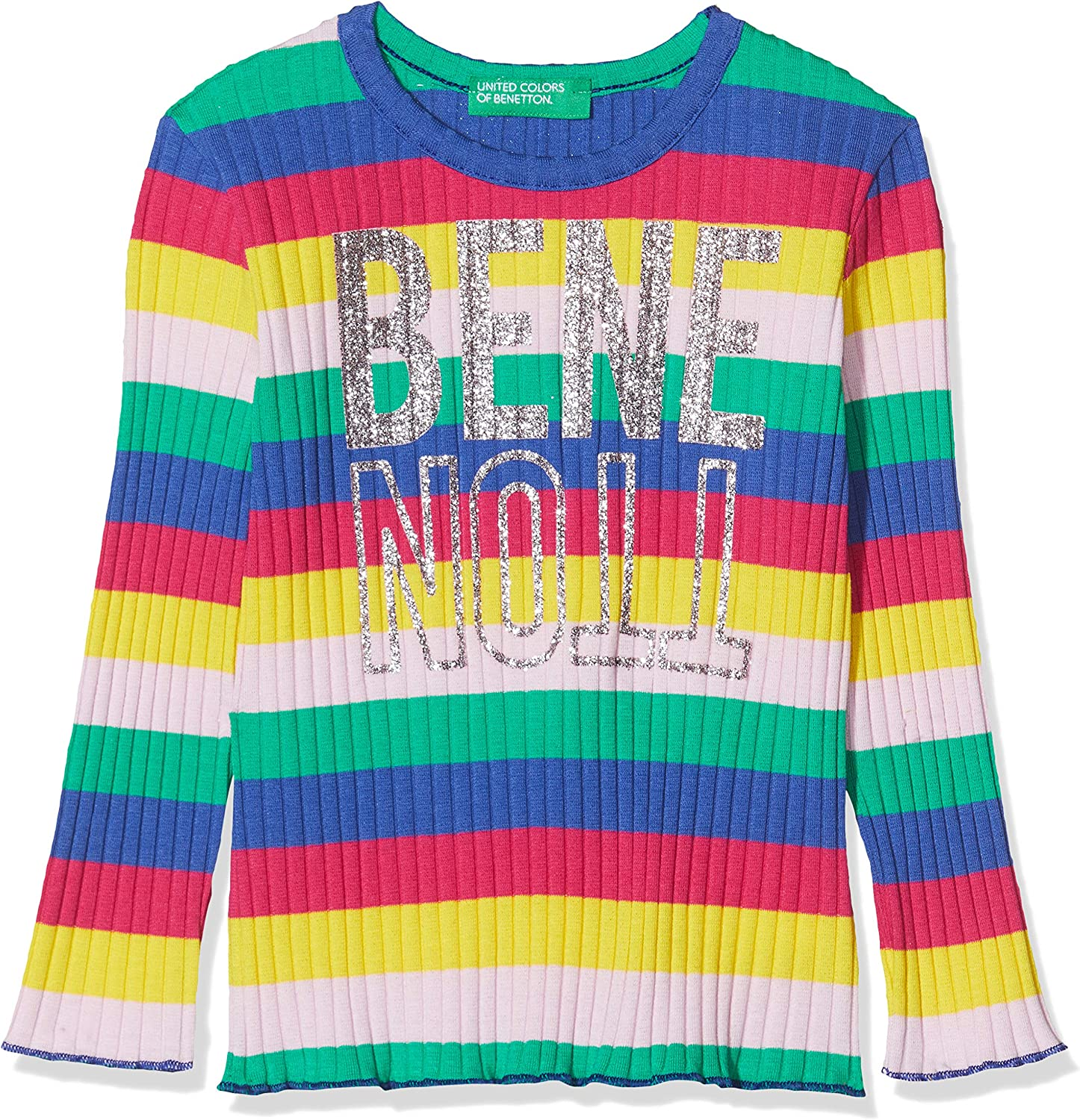 United Colors of Benetton Baby-M/ädchen T-Shirt M//L Langarmshirt