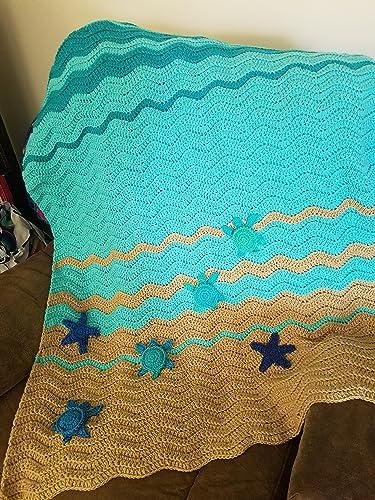 Amazoncom Sea Turtle And Sea Star Baby Blanket Crib Blanket