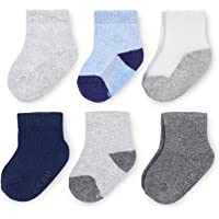 Fruit of the Loom Baby 6-Pack All Weather Crew-Length Socks, Mesh & Thermal Stretch - Unisex, Girls, Boys