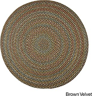 product image for Rhody Rug Cozy Cove Indoor/Outdoor Braided Rug Brown Velvet 8' Round Border 0.25-0.5 inch Antimicrobial, Stain Resistant 8' Round Outdoor, Indoor
