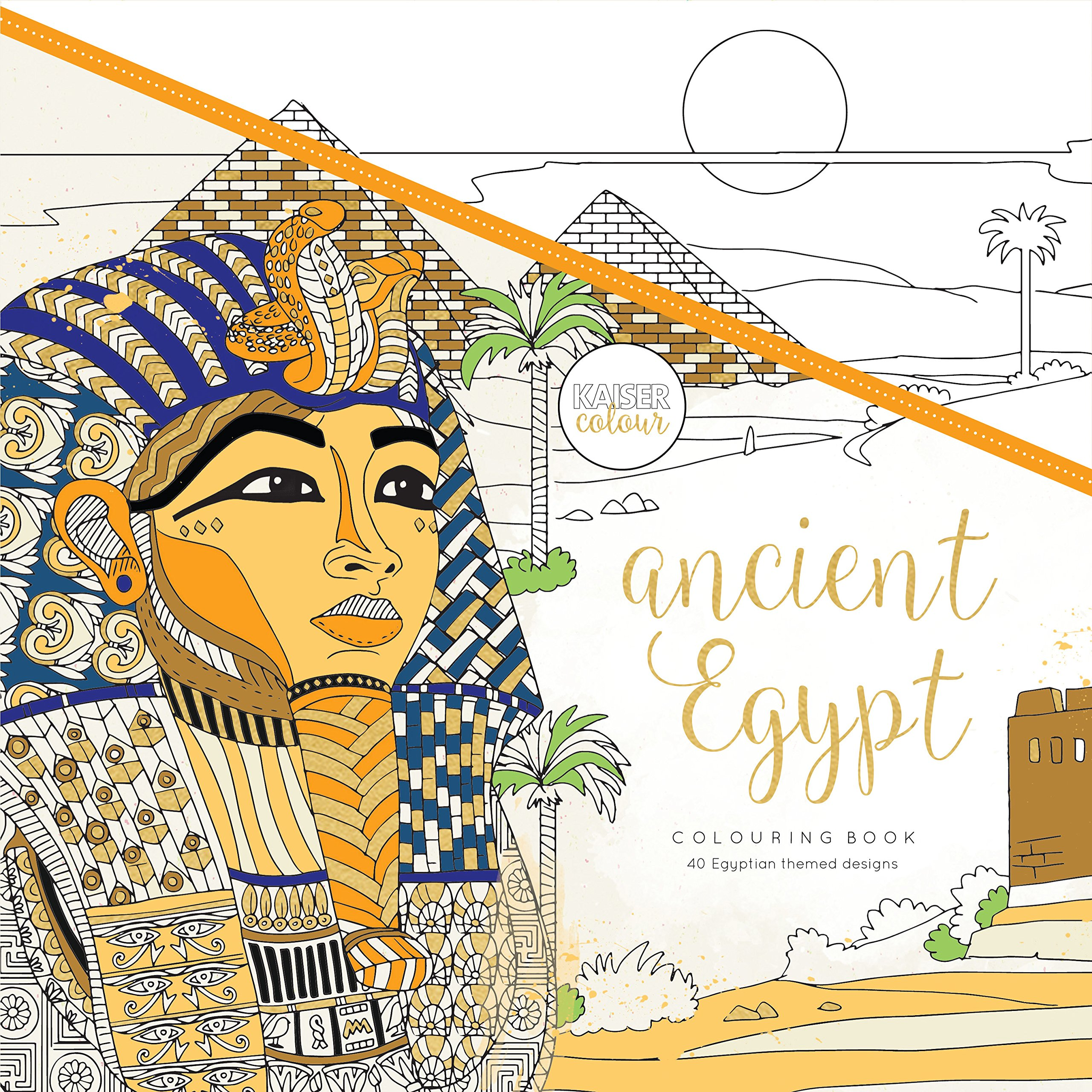 Kaisercraft'' Ancient Egypt KaiserColour Perfect Bound Coloring Book, 9.75'' x 9.75''