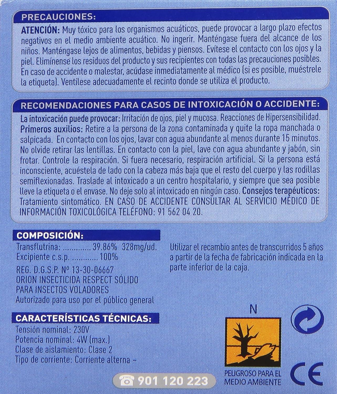 Orion - Respect Insecticida eléctrico - 1 aparato + 1 recambio: Amazon.es: Alimentación y bebidas