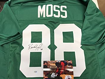 sports shoes bed94 4ef49 Randy Moss Autographed Signed Marshall Rare College Custom ...