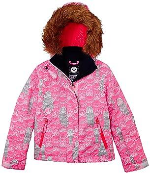 eff6167ac6d8 Roxy Jet Girl Jacket Russian Doodles/Diva, Girls', Russian Doodles/diva