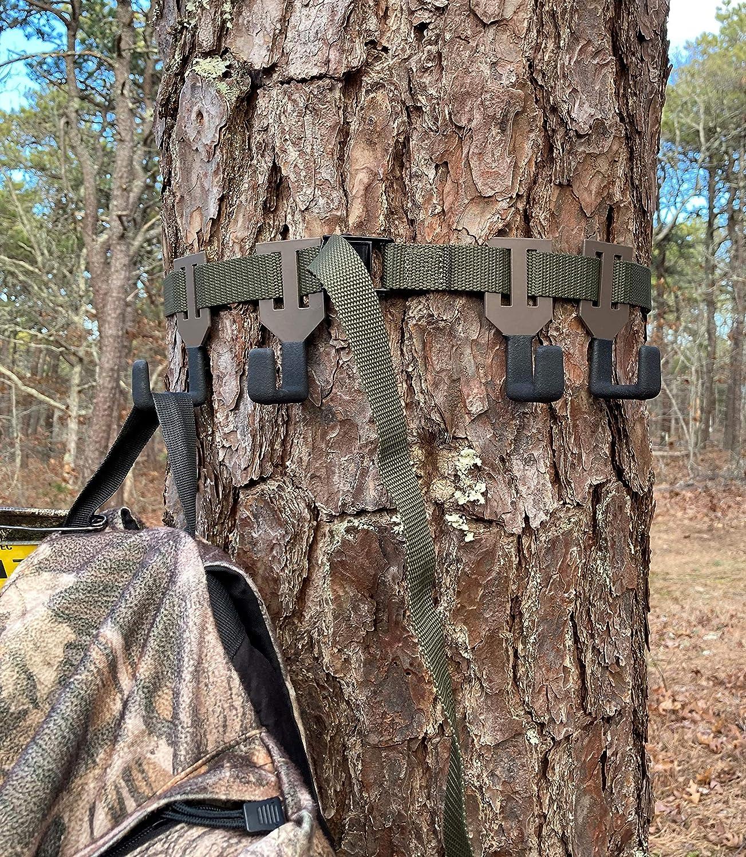 LY-5 Accessoire Crochet 8-Caoutchouc noir enduit vis-à Tree Stand Hanger 10 lb environ 4.54 kg