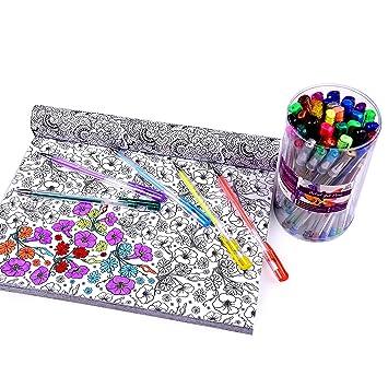 BOLÍGRAFOS DE TINTA DE GEL PARA ARTISTAS – Estuche de 40 bolígrafos de Colores para Adultos, dibujo y arte –Calidad profesional, Purpurina Brillante, ...