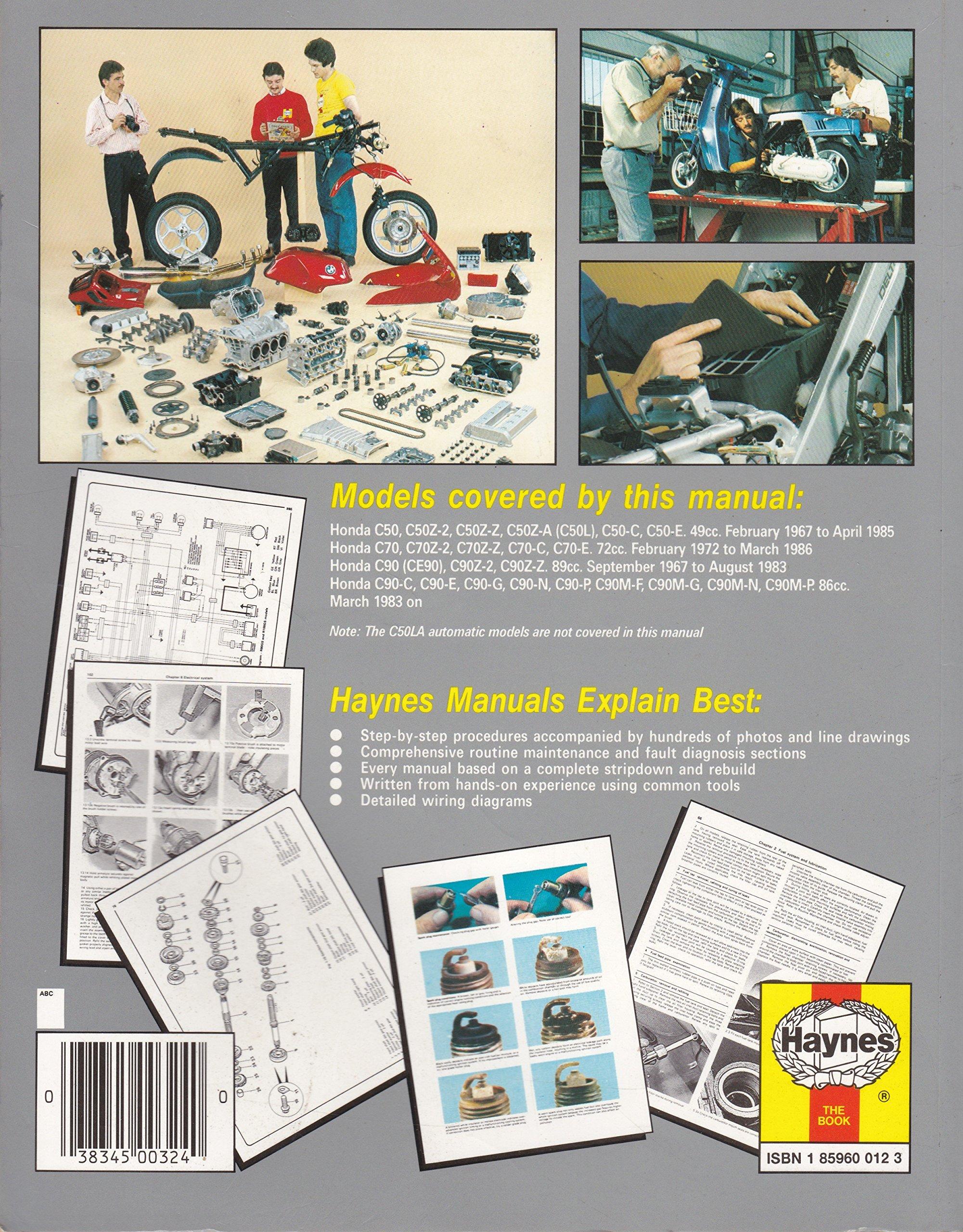 Honda C50 C70 And C90 Owners Workshop Manual Haynes C70e Wiring Diagram Manuals Mervyn Bleach Jeremy Churchill Mansur Darlington Fremdsprachige