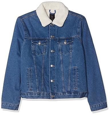 New Look Herren Plus Size Borg Denim Jeansjacke  Amazon.de  Bekleidung c87e8b59c4