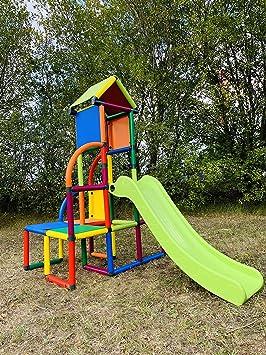 move and stic Toni Área de Juegos / Casa de Juegos Torre de Escalada con Tobogán para Niño Pequeño para Habitación Infantil o Sala de Juegos Genauso ...