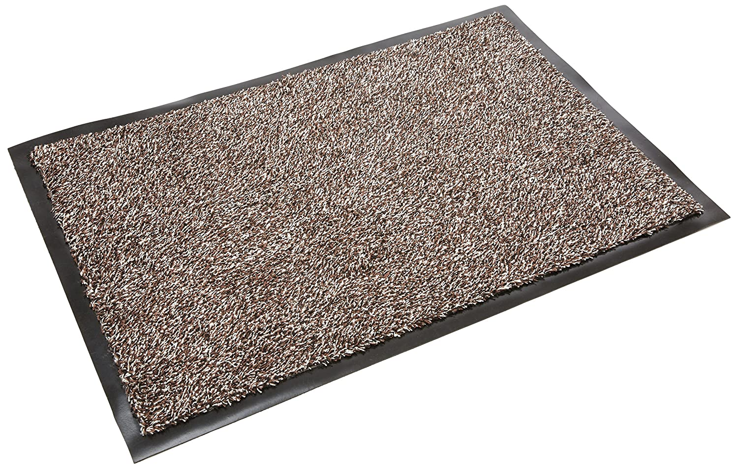 Addis Mega Door Mat Highly Absorbent Cotton Non slip PP Mix machine Washable - Large 75 x 50 cm Brown Speck, Brown Fleck 517498