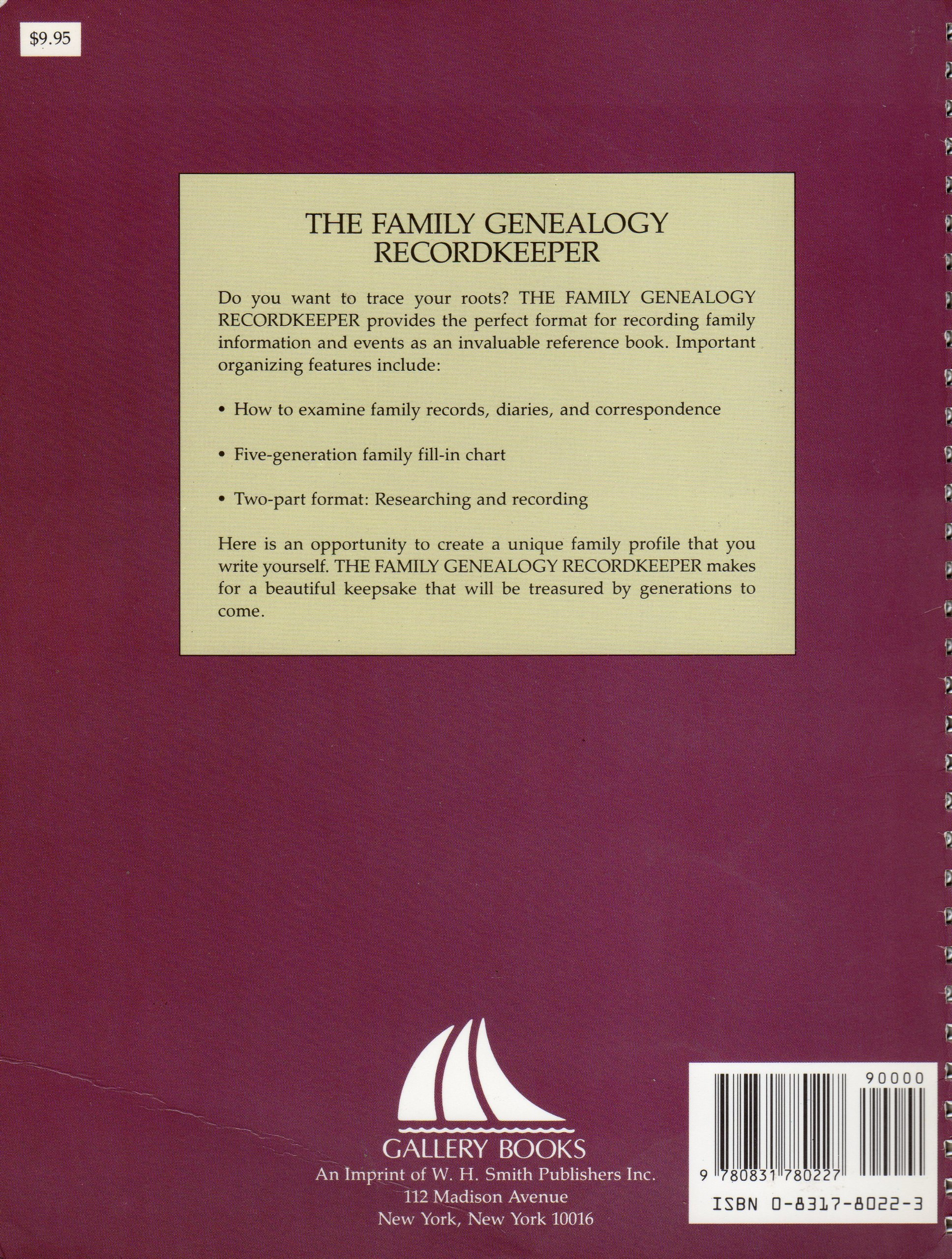 family genealogy recordkeeper 9780831780227 amazon com books