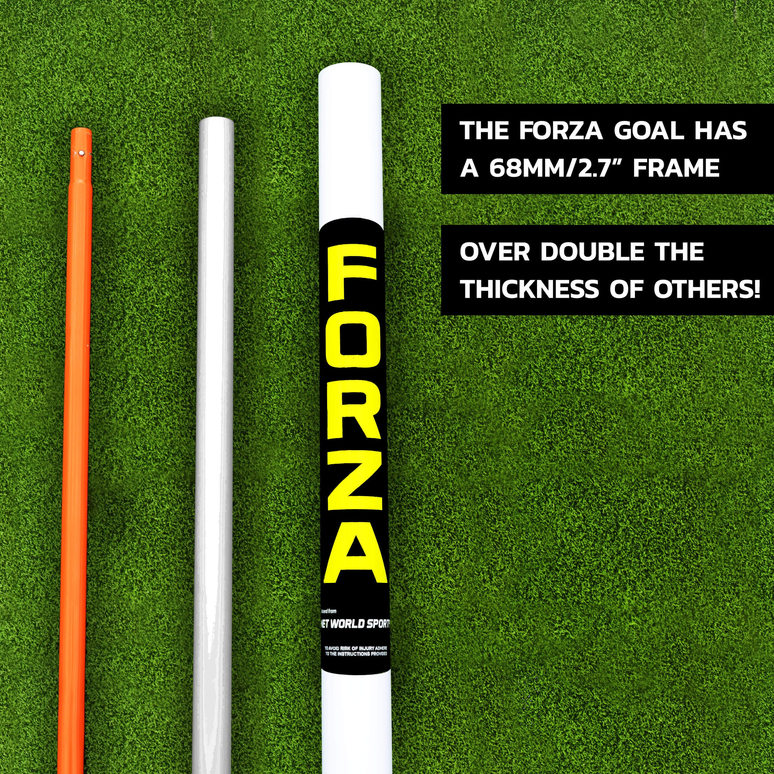 FORZA ''Match Standard'' 12' x 6' Professional Soccer Goal and Net - The Best Goal That Money Can Buy! (12 x 6 FORZA Goal & Carry Bag) by Net World Sports (Image #2)