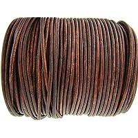 Cuerda de piel redonda 3 mm. Marrón antiguo.