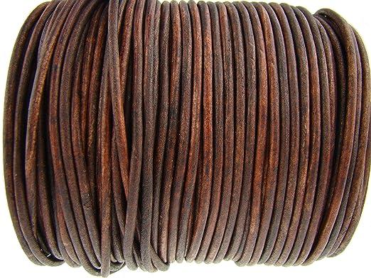 7 opinioni per Cordino rotondo in cuoio, 3 mm, colore: marrone anticato, lunghezza a scelta,