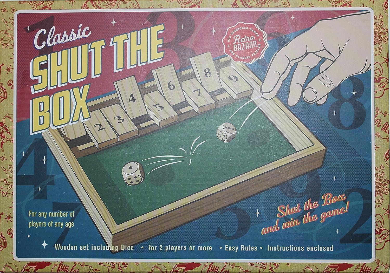 CaCaCook 12 Pouces Shut The Box Dice Game 1-4 Joueurs Gnole Jeu /à Boire D/és Jeux /à Boire pour Soir/ée Bar 4 Joueurs avec Les Amis Familles Strategie Shut The Box Jeu Echecs Bois