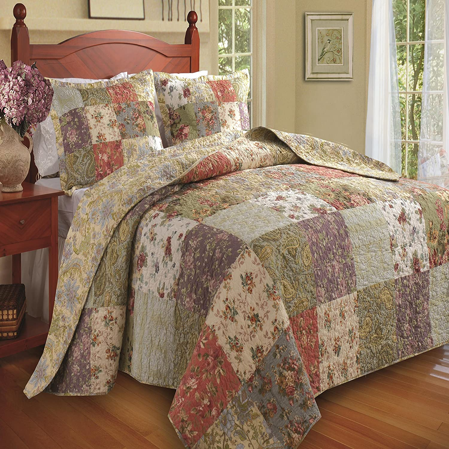 Greenland Home Blooming Prairie Twin 2-Piece Bedspread Set GL-0910NT