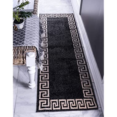 Unique Loom 3137311 Area Rug, 2' x 6' Runner, Charcoal