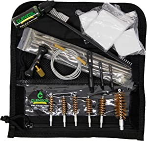 Clenzoil Field & Range Universal Gun Cleaning Kit | Rifle, Shotgun & Pistol Cleaning Kit | Includes Field & Range CLP, Bore Brushes, Patches, Rod, Cable, Handle, Nylon Brush & More!