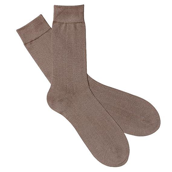 Jasmine Silk Lujo Seda Calcetines calcetines de noche calcetines térmicos Beige: Amazon.es: Ropa y accesorios
