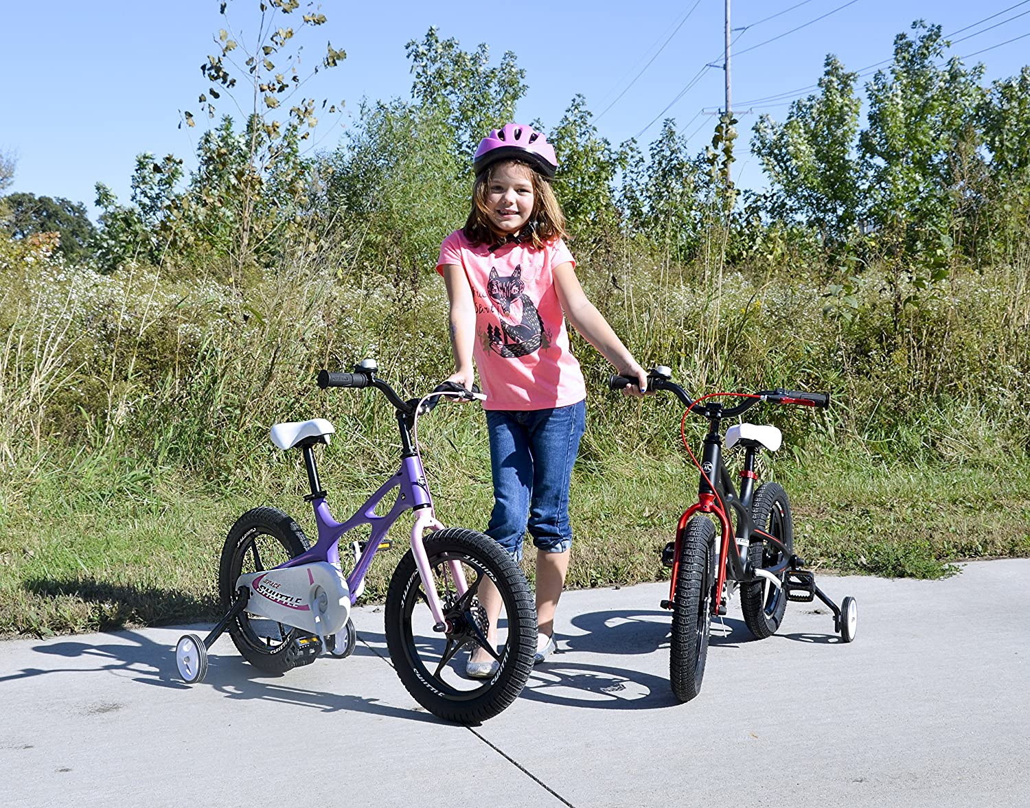 Purple and White RoyalBaby Space Shuttle Kid/'s Bike 2017 Newly-launched Available in Black Lightweight Magnesium Frame 16 inch with Training Wheels and Kickstand