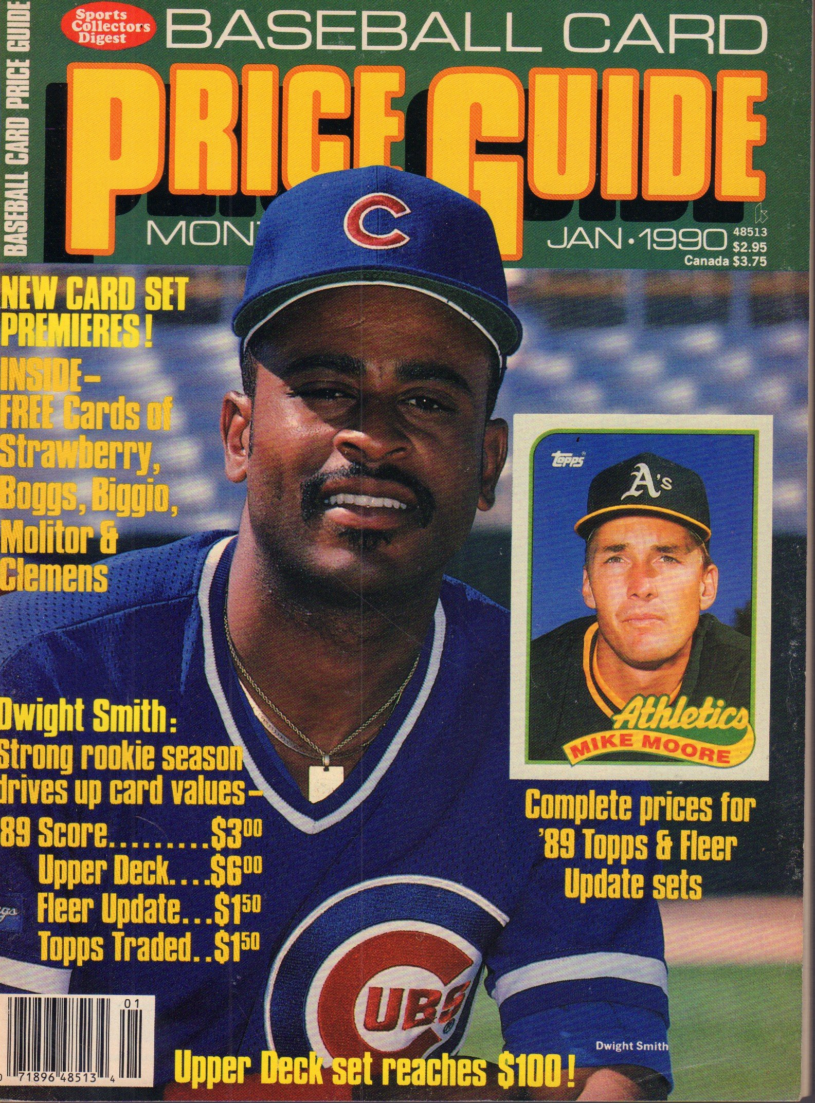 Baseball Card Price Guide January 1990 Mike Moore Dwight