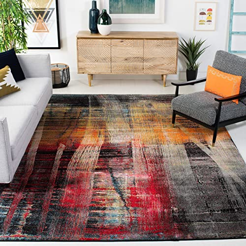 Safavieh Porcello Collection PRL6936A Modern Abstract Non-Shedding Stain Resistant Living Room Bedroom Area Rug - the best living room rug for the money