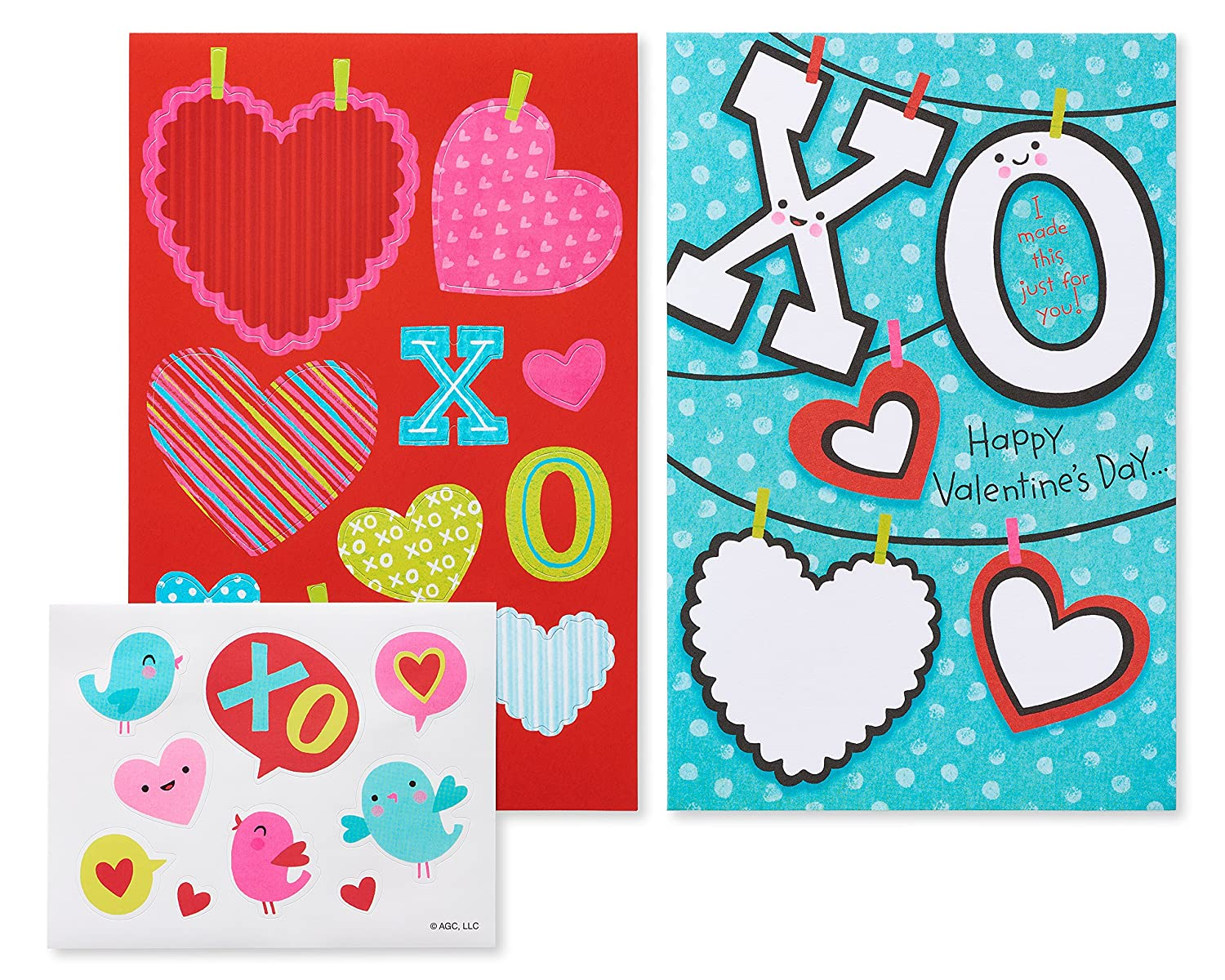 American Greetingsグリーティングカード B077WLR4RG XO Valentine's Day Card, 4-Count