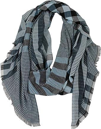 Rotfuchs Bufanda de algodón ligero bufanda de mujer bufanda de hombre zorro rojo a cuadros azul negro 210 x 52 cm Hecho en Alemania: Amazon.es: Ropa y accesorios