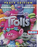 Trolls: Party Ediiton Includes Movie + Party Mode PLUS 2 Music Videos Blu-ray+DVD Combo Pack