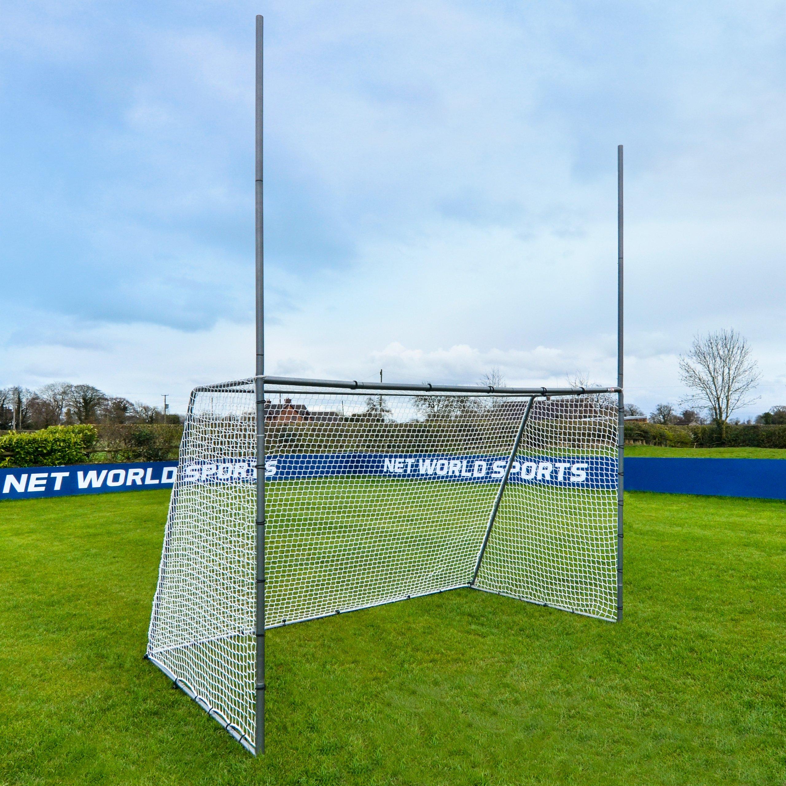 Net World Sports Forza Steel42 Football/Soccer Combination Goal Posts - Super Strong Steel Goals for The Backyard (10ft x 6ft)
