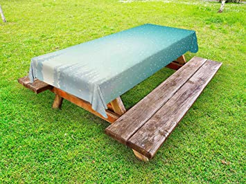 Amazoncom Winter Outdoor Tablecloth By Ambesonne Snow Falls On - Spruce picnic table