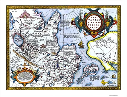 Map Of Asia And Japan.Old Asia Map East Asia Japan Alaska Ortelius 1603 23 X 30 02