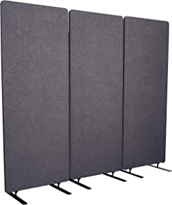 "S Stand Up Desk Store ReFocus Acoustic Room Dividers | Office Partitions – Reduce Noise and Visual Distractions with These Easy to Install Wall Dividers (72"" X 66"", Ash Gray)"