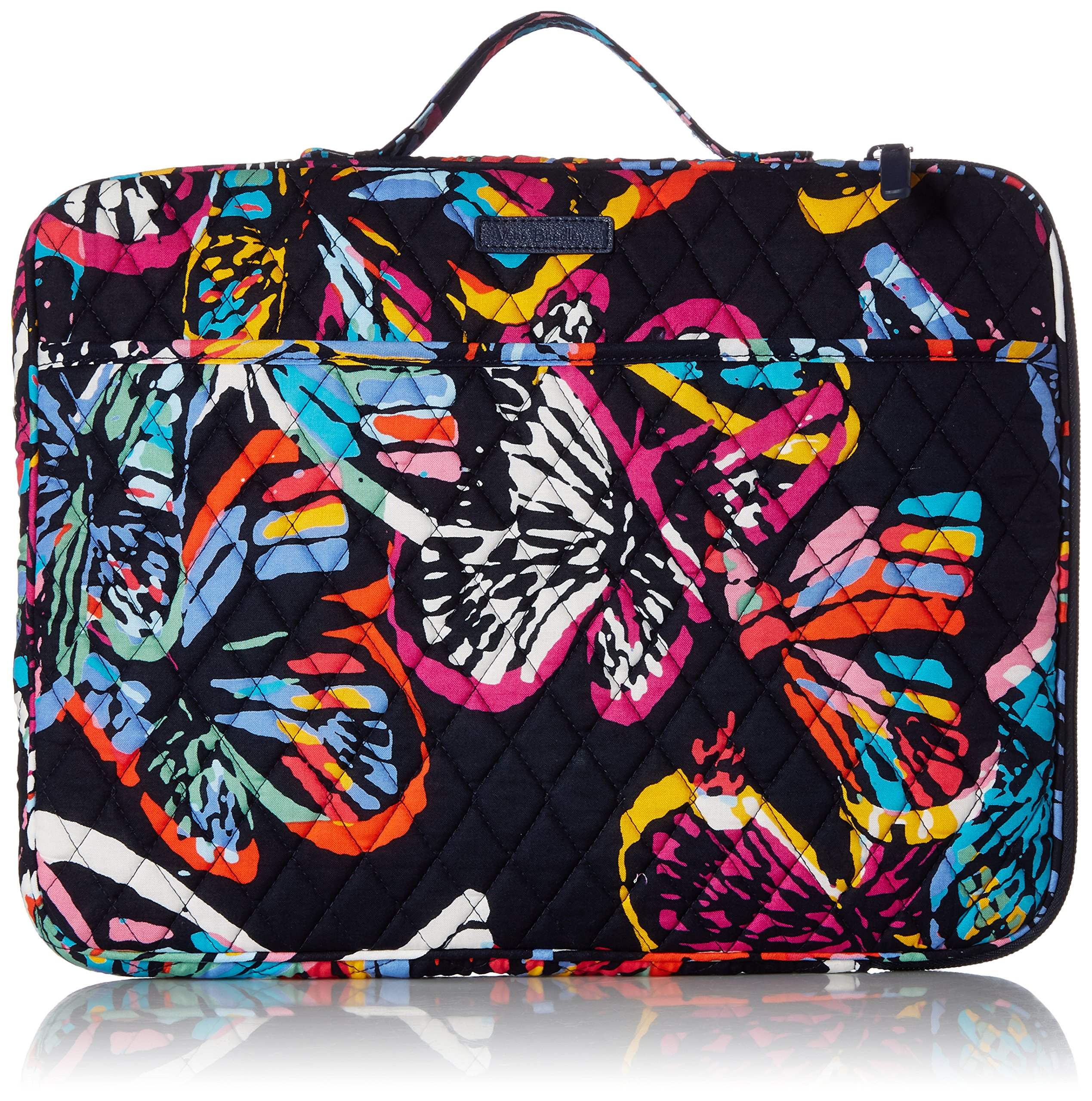 Vera Bradley Laptop Organizer, Signature Cotton, Butterfly Flutter